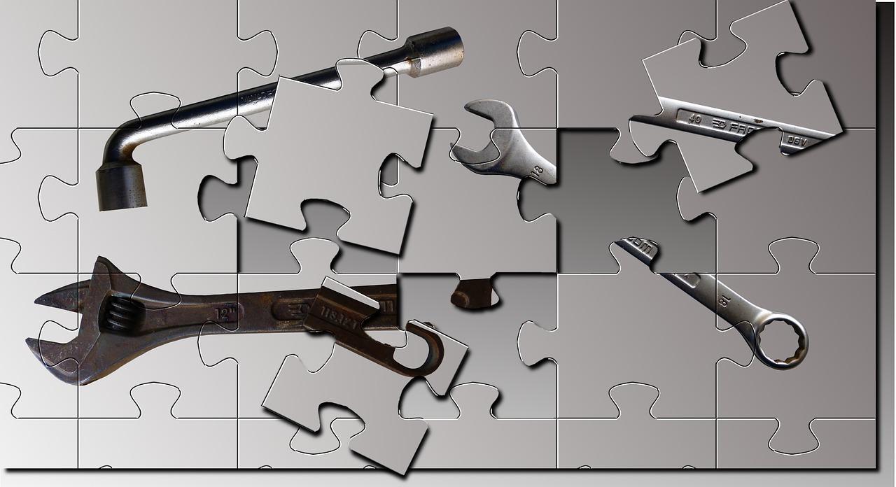 Puzzle s nářadím