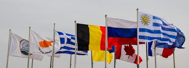 vlajky ve větru