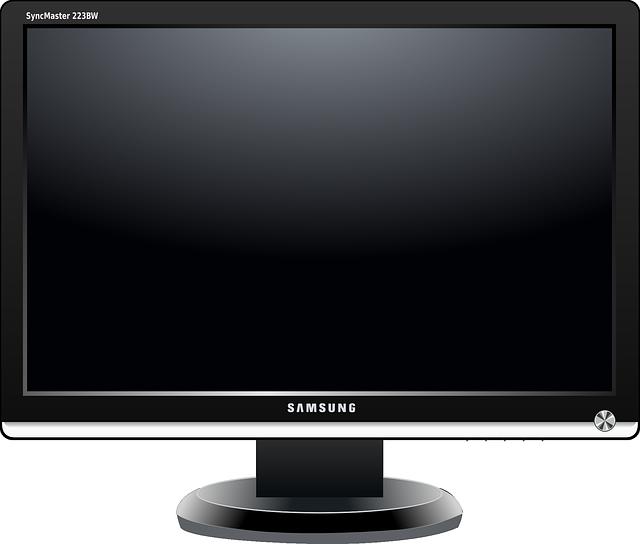 tmavý monitor